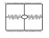 Quadratics Review Placemat
