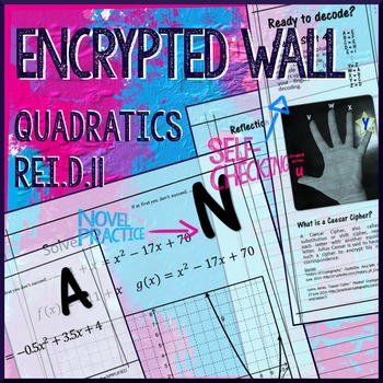 Quadratics- Solve Quadratic Equations by Graphing REI.11 Encrypted Wall Activity