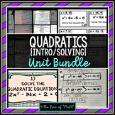 Quadratics (Solving Quadratics) Unit Bundle