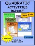 Quadratic Activities Bundle