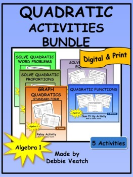 Quadratic Activities Bundle