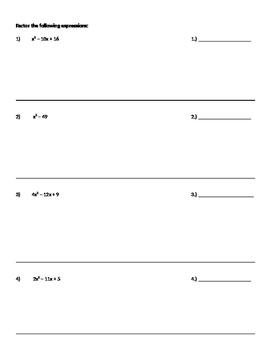 Quadratics Unit Test
