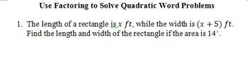 Quadratics Unit guided notes Math 3 III