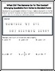 Quadratics: Vertex Form to Standard Form Practice Riddle Worksheet