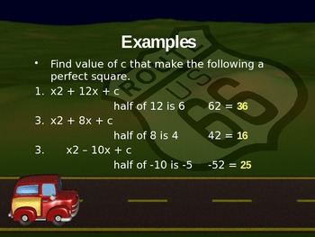 Quadratics by Completing the Square