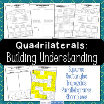 Quadrilateral Activities - Square, Rectangle, Trapezoid, Parallelogram, Rhombus