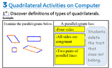 Classify Quadrilaterals with Virtual Manipulatives using WORD