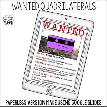 Quadrilaterals Activity: WANTED Quadrilaterals
