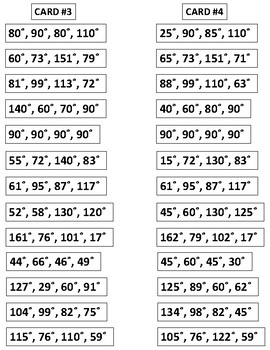 de0df10f1bc Quadrilateral Angle Measurements - 360 Degree Strips by LucyandEthelMath