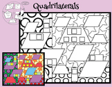 Quadrilateral Search/Whirling Wheel Included Too {Geometry and Art Integrated}