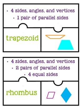 Quadrilateral Attributes Match