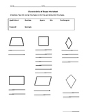 Quadrilateral Attributes Page