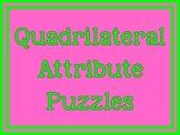 Quadrilateral Attributes Puzzles