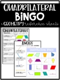 Quadrilateral Bingo & Geometry Reference Sheets