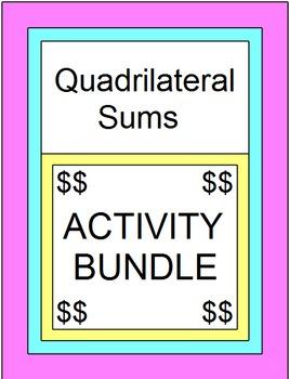 Quadrilateral Sum Activity - Bundle