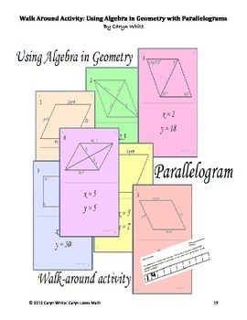 Quadrilateral Bundle~4 Activities~Is it a Parallelogram~Walk Around~Trapezoid