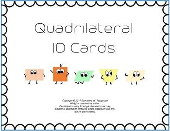 Quadrilateral Characteristics ID Activity
