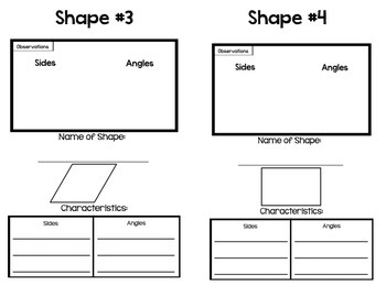 Quadrilateral Classification Booklet