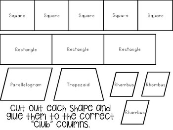 Classifying Shapes Activity
