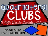 Fifth Grade Math Activity: Classifying Shapes - Quadrilate