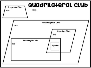 Quadrilateral Clubs Anchor Chart & Interactive Notebook Page