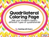 Quadrilateral Coloring Page