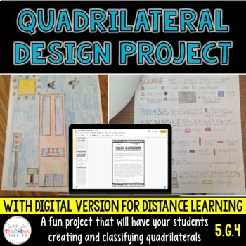 Quadrilateral Design Project - 5th Grade Geometry - Distance Learning