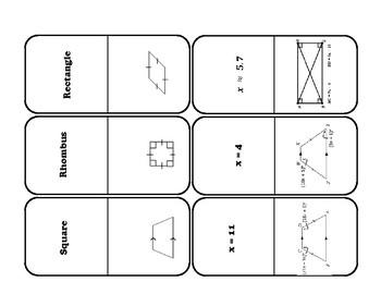 Quadrilaterals Dominoes