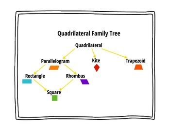 Quadrilateral Family Tree By Christina Rodriguez Tpt