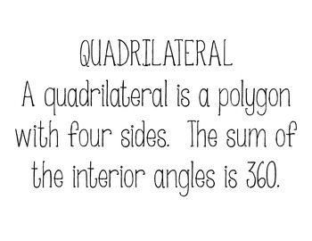 Quadrilateral Family Tree Poster Set