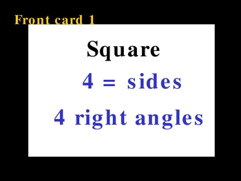 Quadrilateral Flashcards Printable from Powerpoint