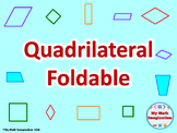 Quadrilateral Foldable: Square, Rectangle, Rhombus, Parallelogram, Trapezoid