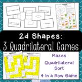 Quadrilateral Games / Centers - Properties of Quadrilaterals Activities
