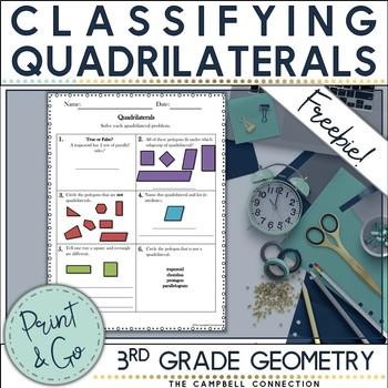 Quadrilaterals Practice Freebie!