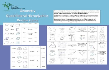 Quadrilateral Hieroglyphics Review Game
