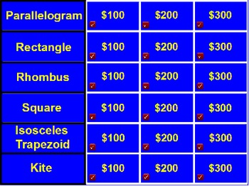 Quadrilateral Jeopardy