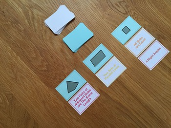 Quadrilateral Match Card Game