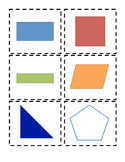 Quadrilateral Matching Activity Cards