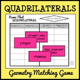 Quadrilateral Matching Game, Geometry Sort, Includes 10 Games!