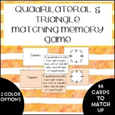 Quadrilateral Matching Memory Game