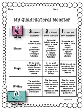 Quadrilateral Monster Performance Task - {3.G.A.1}