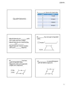 Quadrilateral Notes