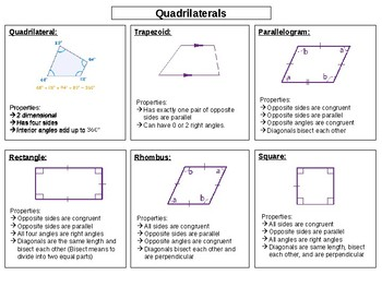 Quadrilateral Cut And Paste Worksheets & Teaching Resources ...