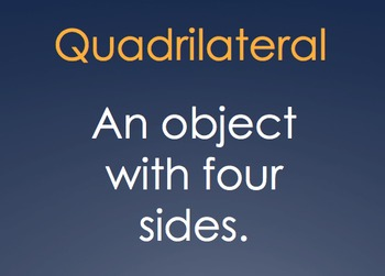 Quadrilateral PowerPoint What Shape Am I?