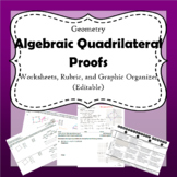 Quadrilateral Proof Worksheets & Rubric