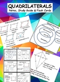 Quadrilateral Properties Notes, Study Guide & Flash Cards