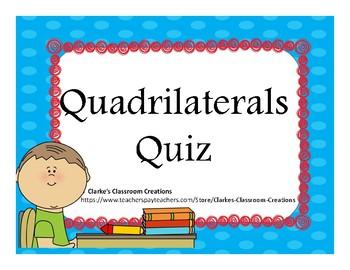 Quadrilateral Quiz