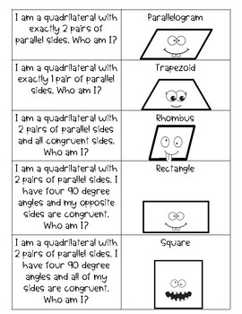 Quadrilateral Riddle Game