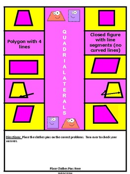 Quadrilateral Self Checking Game and Center