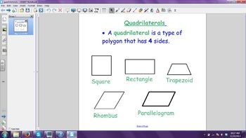 Quadrilateral Smartboard Slide